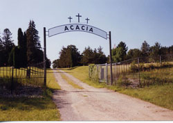 Front entrance of Acacia Cemetery